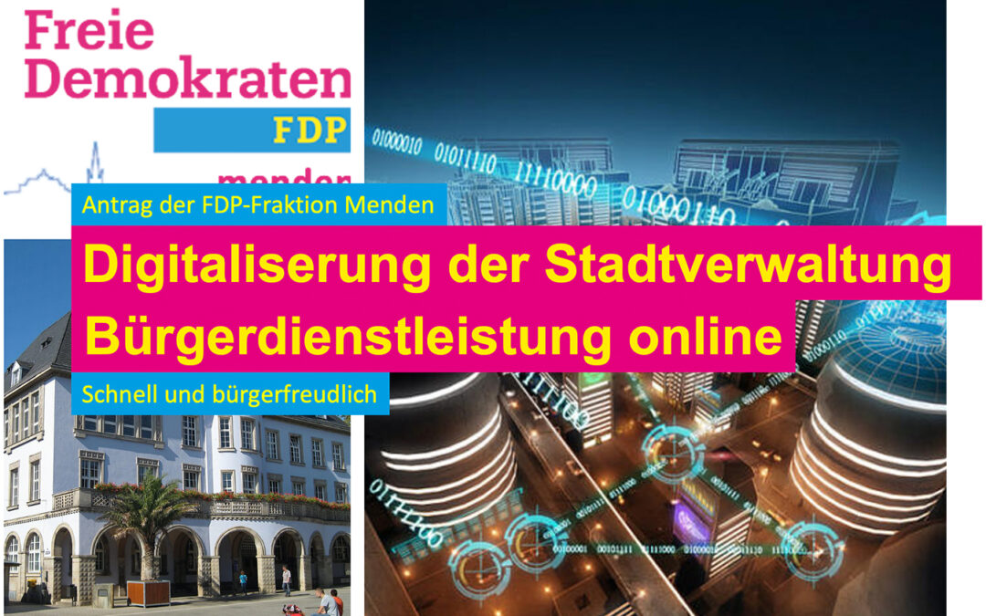 Digitalprojekt in der Stadtverwaltung Menden